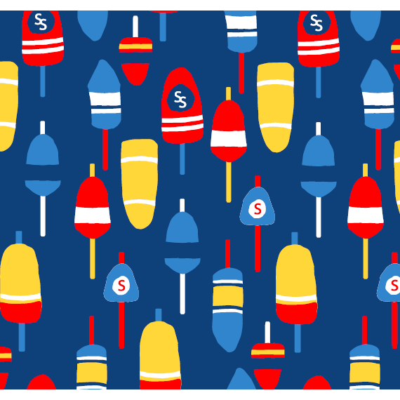 Sailor Sailor Yacht Club Shift - Little Buoys Red/Yellow/Blue