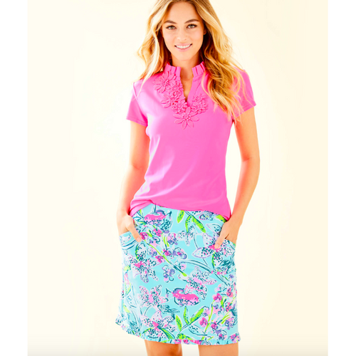 Lilly Pulitzer UPF 50+ Monica Skort Bali Blue Sway This Way