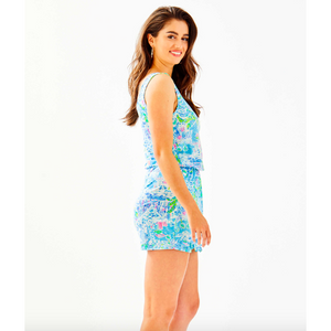 Lilly Pulitzer Analee Romper Multi What A Lovely Place