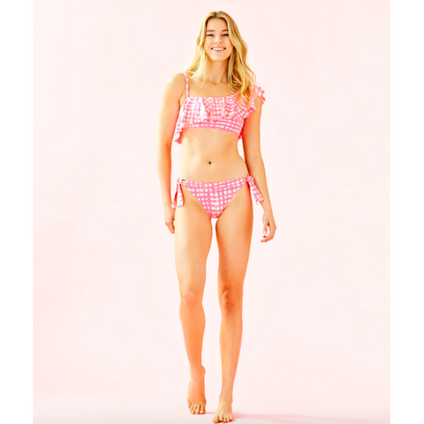 Lilly Pulitzer Laelia Bikini Bottom Pink Sorbet Feelin Beachy