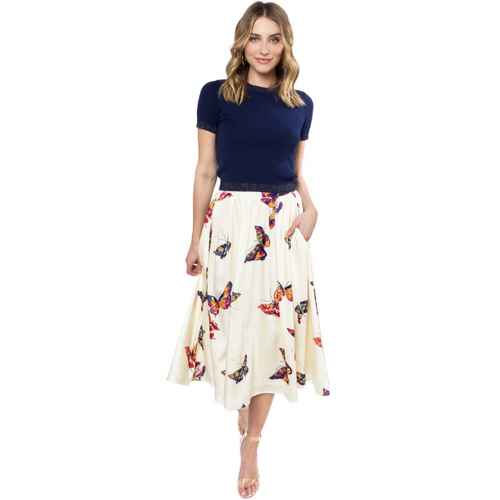 Julie Brown Tulip Skirt Butterflies