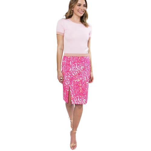 Julie Brown Henley Skirt Pink Meow