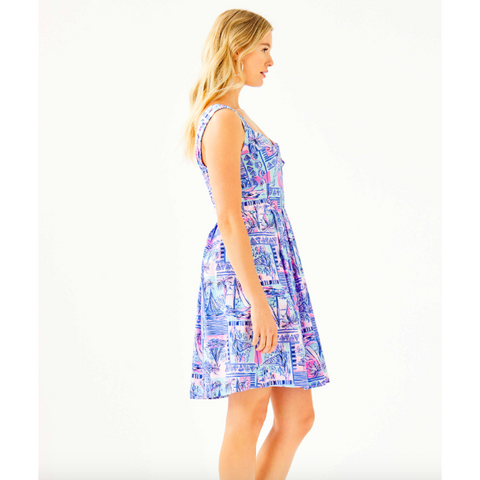 Lilly Pulitzer Cyndi Dress Whisper Blue Yeah Buoy