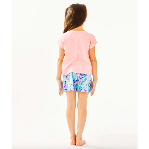 Lilly Pulitzer Girls Petal Top Sweet Pea Pink