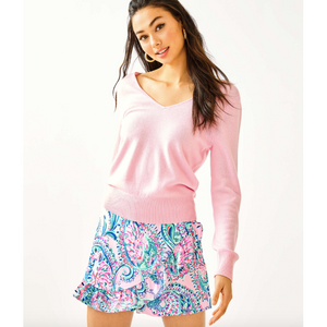 Load image into Gallery viewer, Lilly Pulitzer Viona Cashmere Sweater Pink Tropics Tint