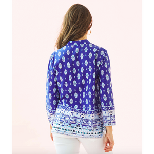 Lilly Pulitzer Asani Tunic Lapis Lazuli Glow Up Engineered