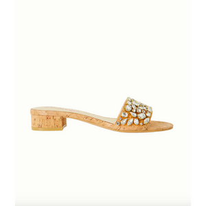 Lilly Pulitzer Trish Crystal Slide Sandal Natural