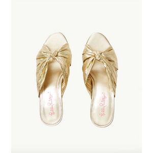 Lilly Pulitzer Sheena Slide Sandal Gold Metallic