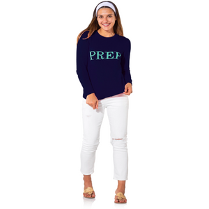 Sail To Sable Intarsia Sweater Prep Navy/Aqua