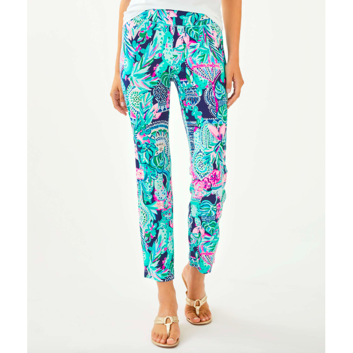 "Lilly Pulitzer 27.5"" Loralee Pant Multi Lookin Sharp"