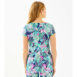 Load image into Gallery viewer, Lilly Pulitzer Alora Top Multi Lookin Sharp Engineered