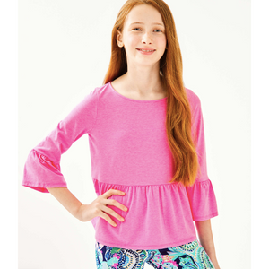 Load image into Gallery viewer, Lilly Pulitzer Girls Tierney Top Mandevilla Pink
