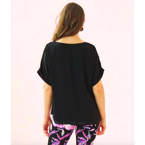 Lilly Pulitzer Casden Top Onyx