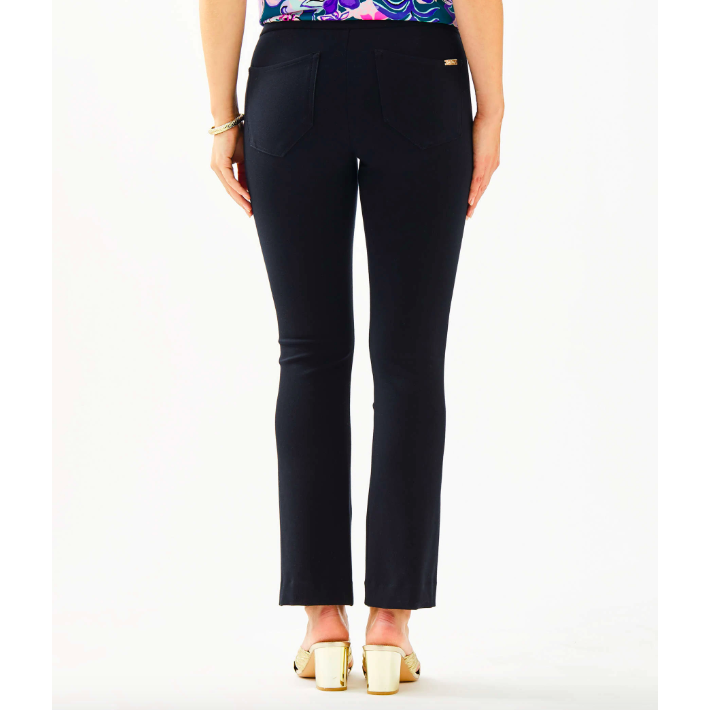 "Lilly Pulitzer 26"" Mia Crop Flare Pant Onyx"