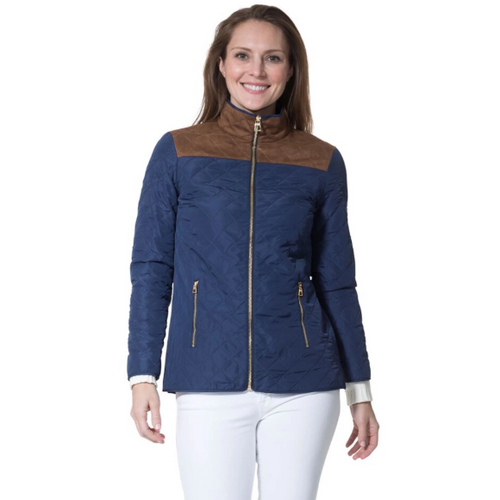 Sail To Sable Quilted Jacket Navy