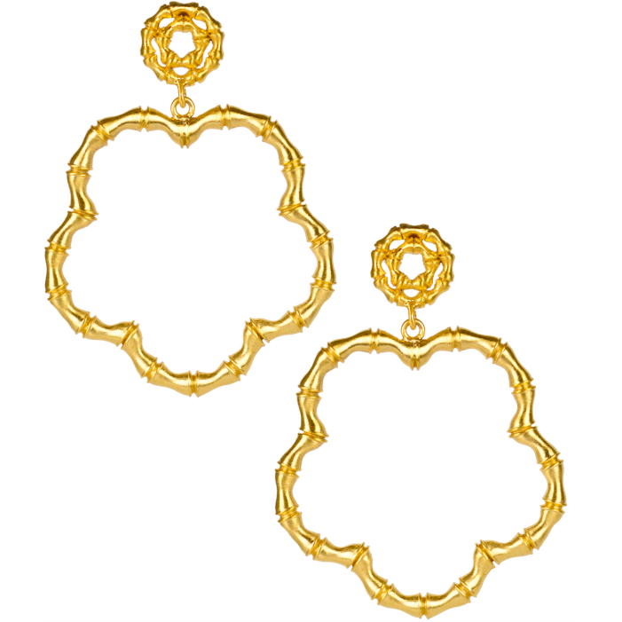Load image into Gallery viewer, Lisi Lerch Bamboo Bobbi Earring Gold