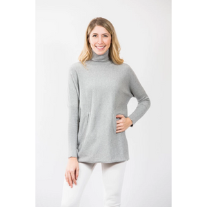 Load image into Gallery viewer, Two Bees Cotton Marie Tunic Heather Grey