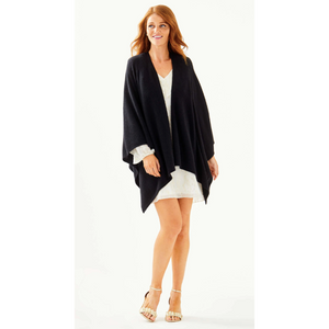 Load image into Gallery viewer, Lilly Pulitzer Terri Cashmere Wrap Black