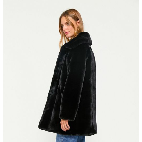 Apparis Alix Faux Fur Coat Noir
