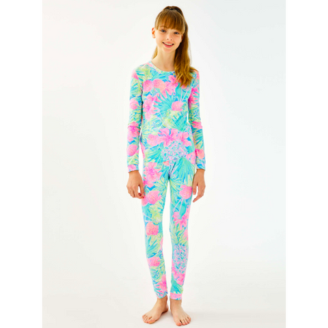 Lilly Pulitzer Girls Sammy Pajama Set Multi Swizzle In Reduced