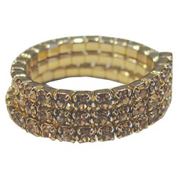 Triple Band Stretch Ring Gold