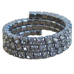 Triple Band Stretch Ring Silver/Silver