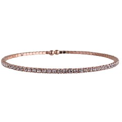 Single Expandable Bracelet White/Rose Gold