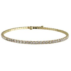 Load image into Gallery viewer, Single Expandable Bracelet White/Gold