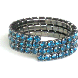 Triple Band Ring Blue