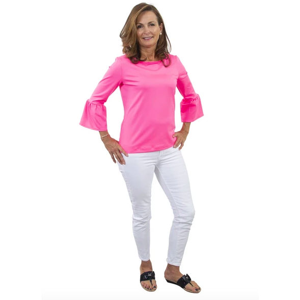 Load image into Gallery viewer, Sailor Sailor Haley Top Hot Pink