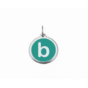 "Load image into Gallery viewer, Small Teal ""b"" Charm"