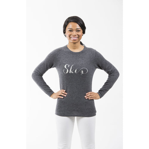 Two Bees Ski Intarsia Sweater Charcoal/Ivory