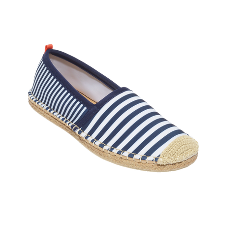 Sea Star Beachcomber Espadrille Navy/White Mixed Stripe
