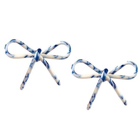 St. Armands Tortoise Bows - Blue and White