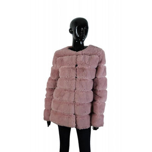 Faux Fur Dinner Jacket Pink