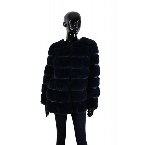 Faux Fur Dinner Jacket Navy