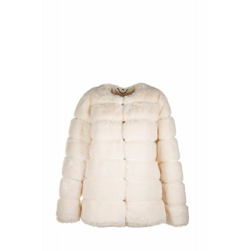 Faux Fur Dinner Jacket Ivory
