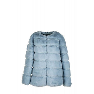 Faux Fur Dinner Jacket Light Blue