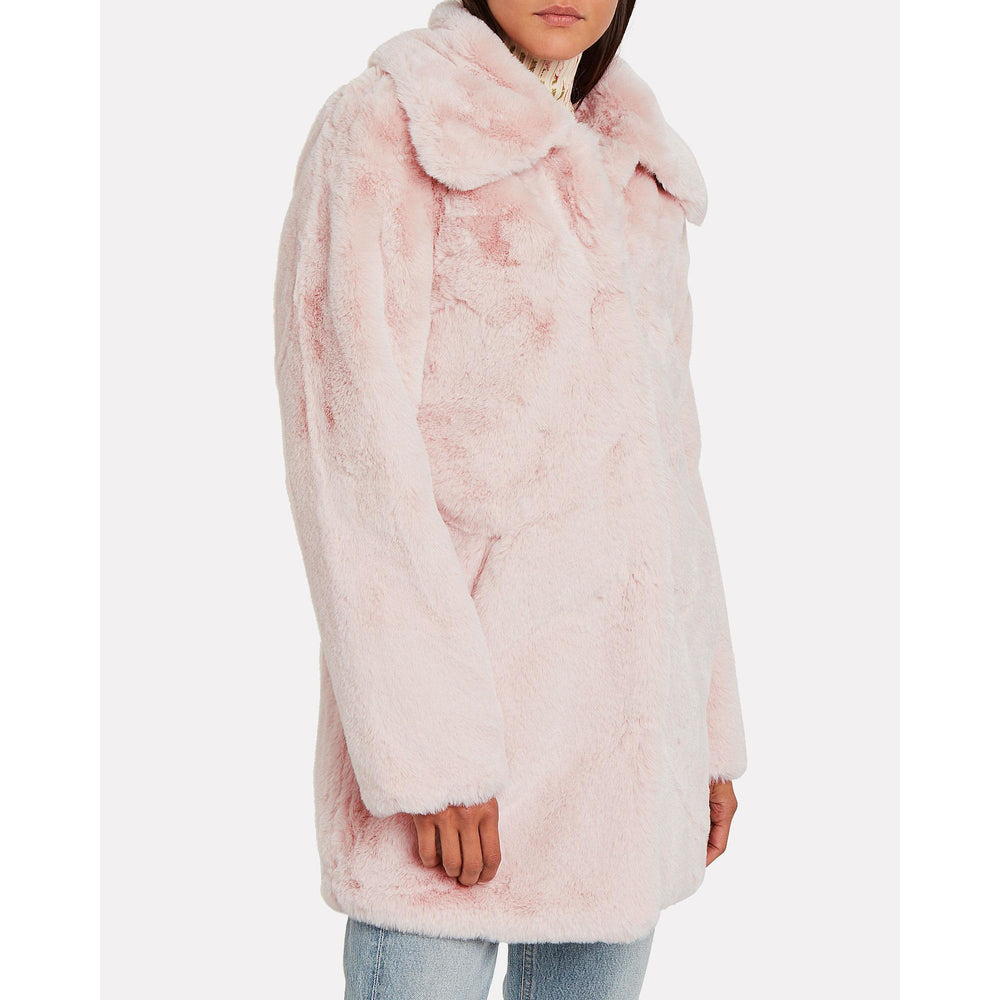 Apparis Alix Faux Fur Coat Blush