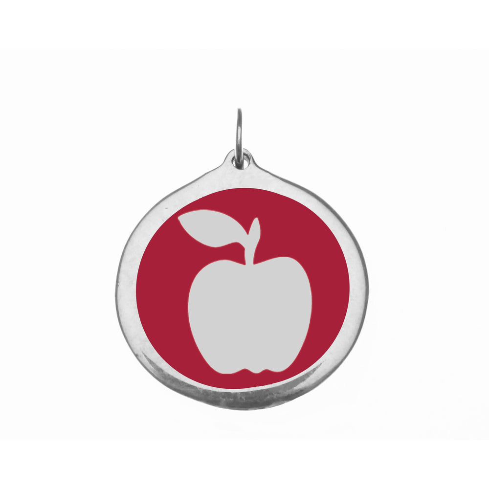 Large Red Apple Charm