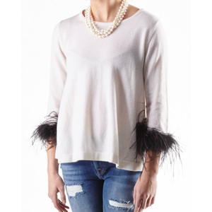 Load image into Gallery viewer, Cortland Park Audrey Sweater Snow/Black