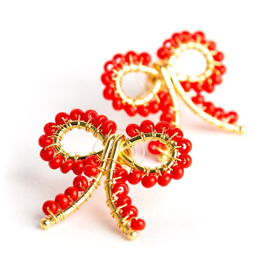 Lisi Lerch Little Bow Earrings Red