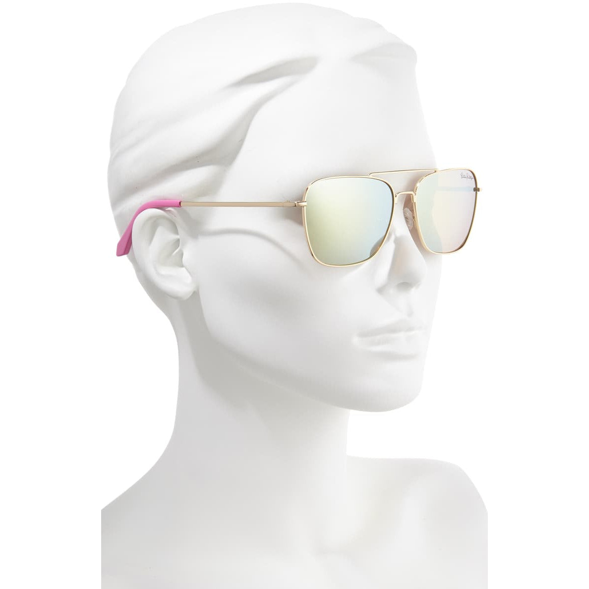 Lilly Pulitzer Kate Gold Metallic Sunglasses