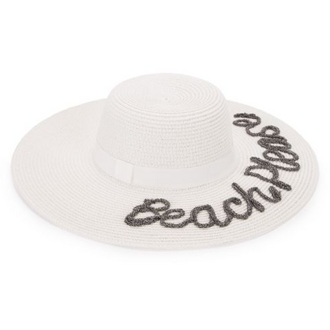 Beach Please Beach Hat White