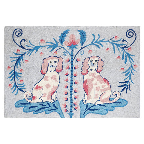 Teggy Dog Toile Hook Rug