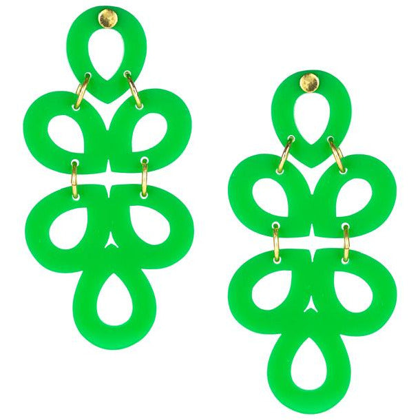 Lisi Lerch Ginger Acrylic Earring Green