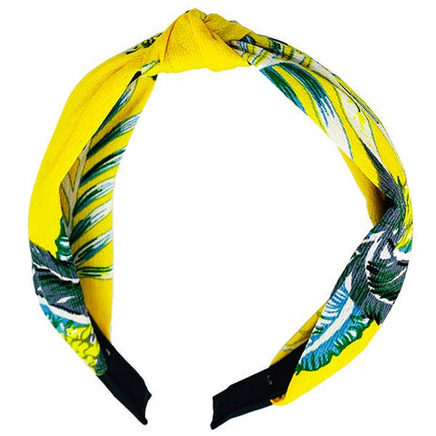 Palm Resort Headband Yellow