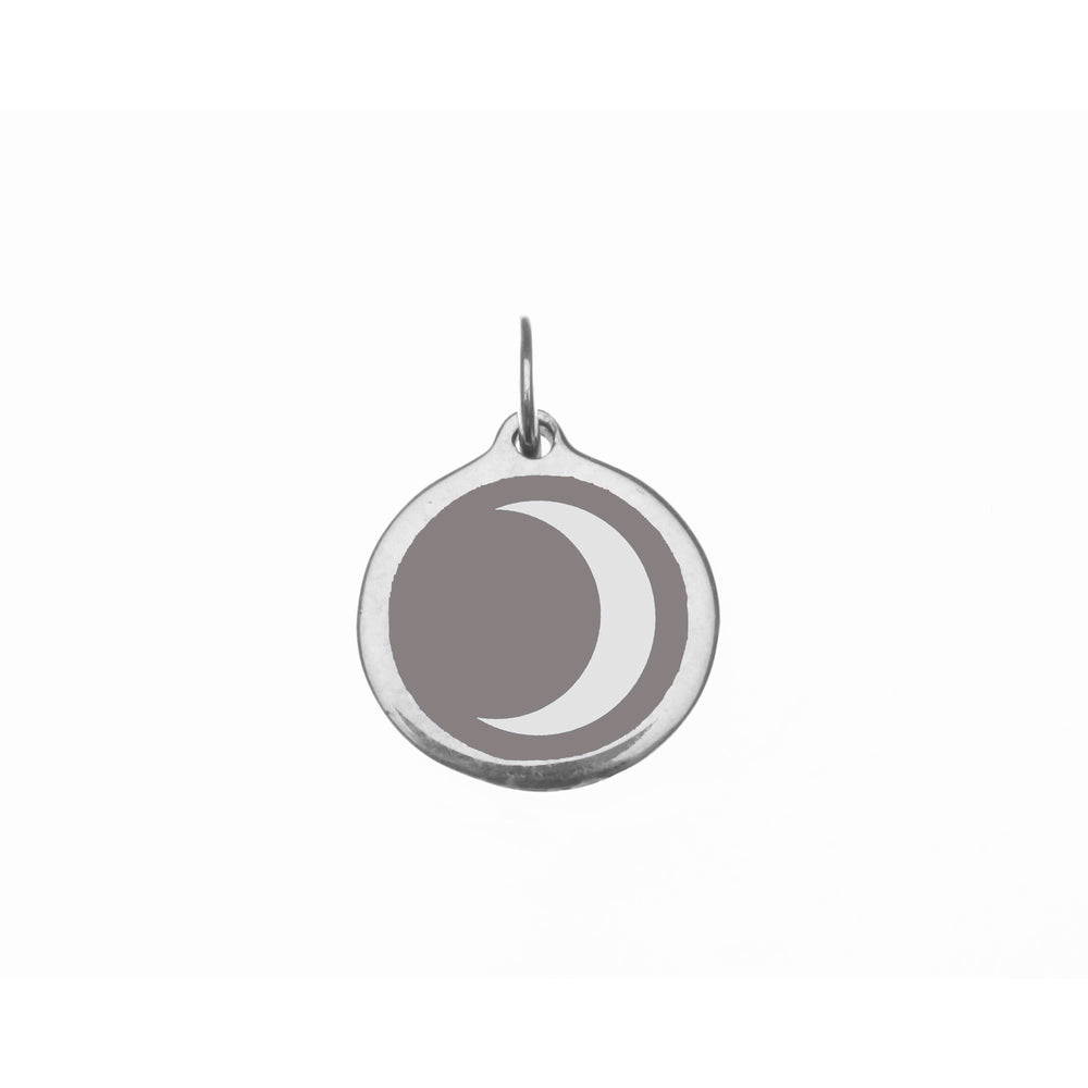 Small Grey Moon Charm