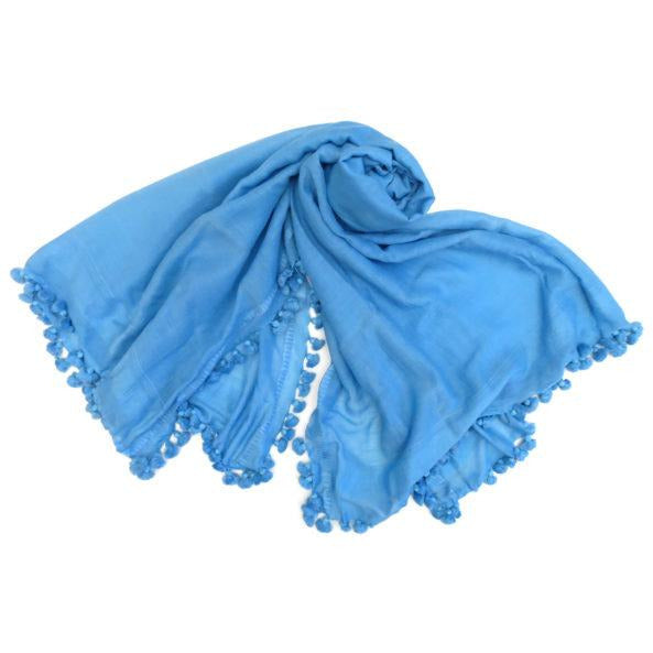 Load image into Gallery viewer, Oliphant Tassel Scarf Blue