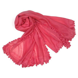 Load image into Gallery viewer, Oliphant Tassel Scarf Coral